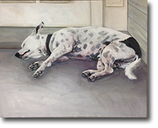 Sleeping Dog | Large Oil On Canvas