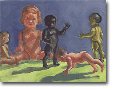 Small Oil Painting - Plasric Kids Press Up