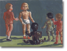 Small Oil Painting - Plastic Kids Meeting