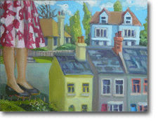 Smalll Oil Painting - Small Town Girl