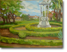 Small Oil Painting - Public Art Hyde Park