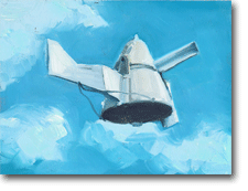 Small Oil painting - Windvane Flying Right