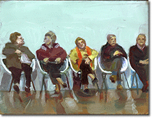 Small Oil Painting - 5 waiting