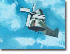 Small Oil Painting - Windvane Flying
